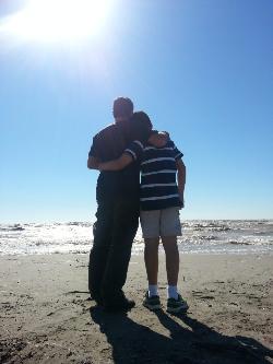Kevin Bulmer with his son, Eddie