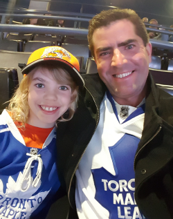Kevin and Jaden Bulmer at the Air Canada Centre in Toronto