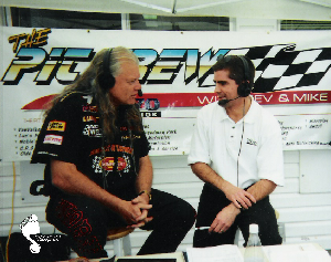 Kevin Bulmer with Johnny Rocca at Grand Bend Motorplex