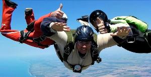 Learning to let go - Derek Botten skydiving