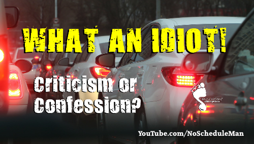 """What An Idiot!"" – Criticism or Confession?"