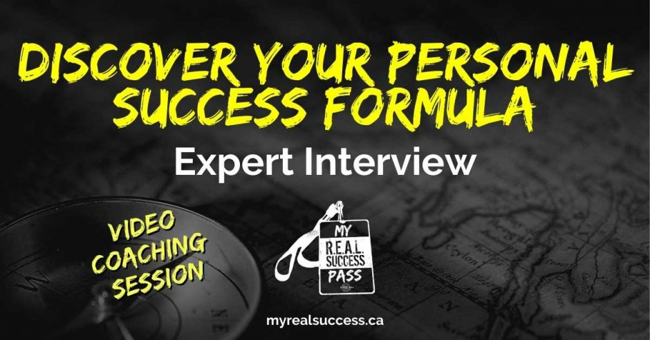 Discover Your Personal Success Formula - Expert Interview   My Real Success Pass