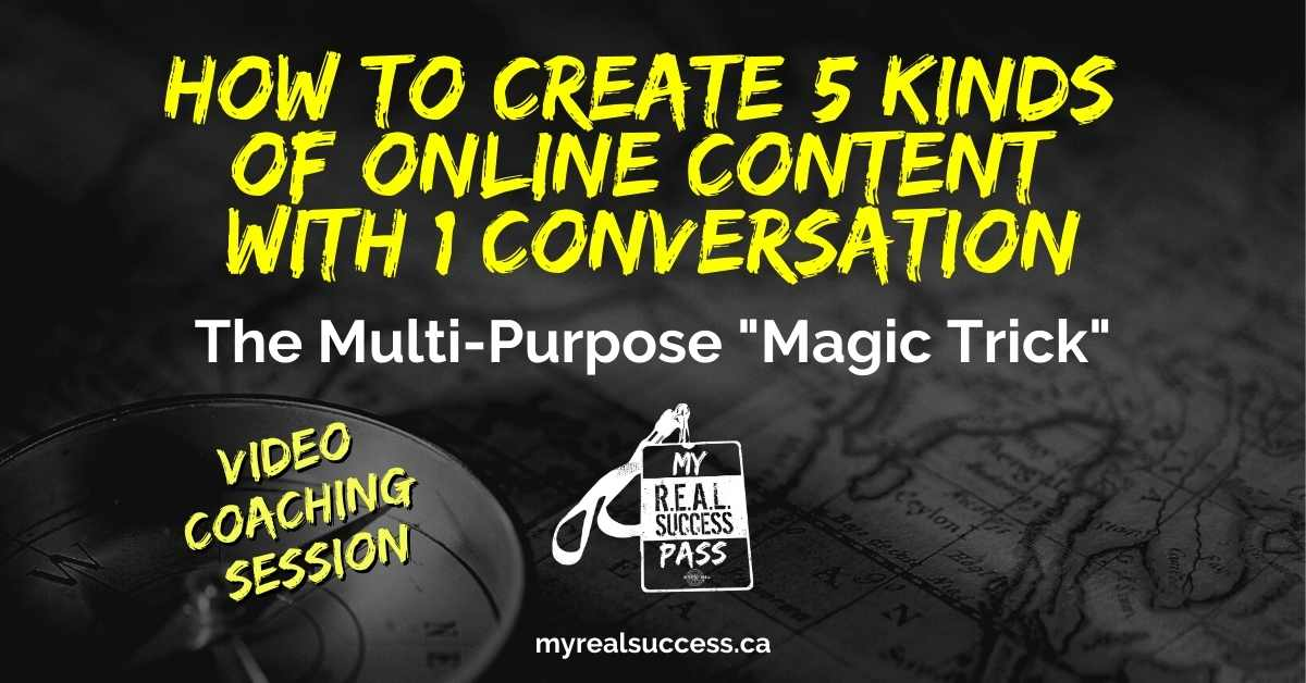 How To Create 5 Kinds of Online Content With 1 Conversation (Video)