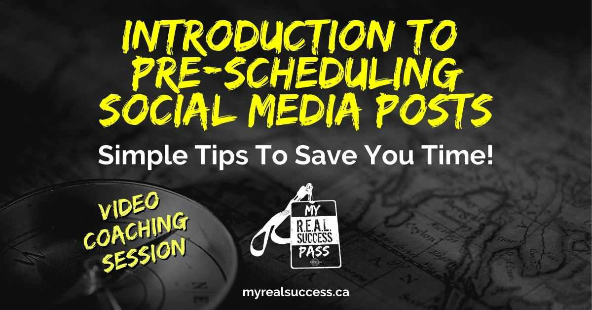 Introduction To Pre-Scheduling Social Media Posts (Video)