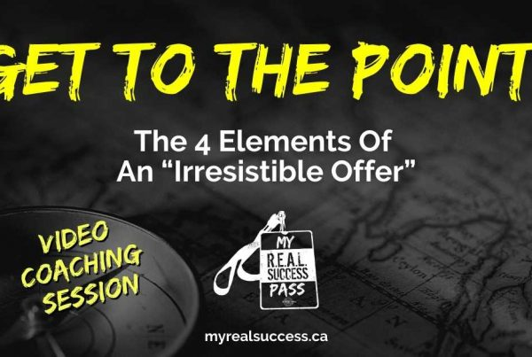 Get To The Point! The 4 Elements of an Irresistible Offer