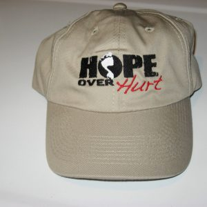 Hope Over Hurt inspirational hat - FRONT