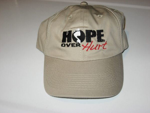 Hope Over Hurt inspirational hat - FRONT
