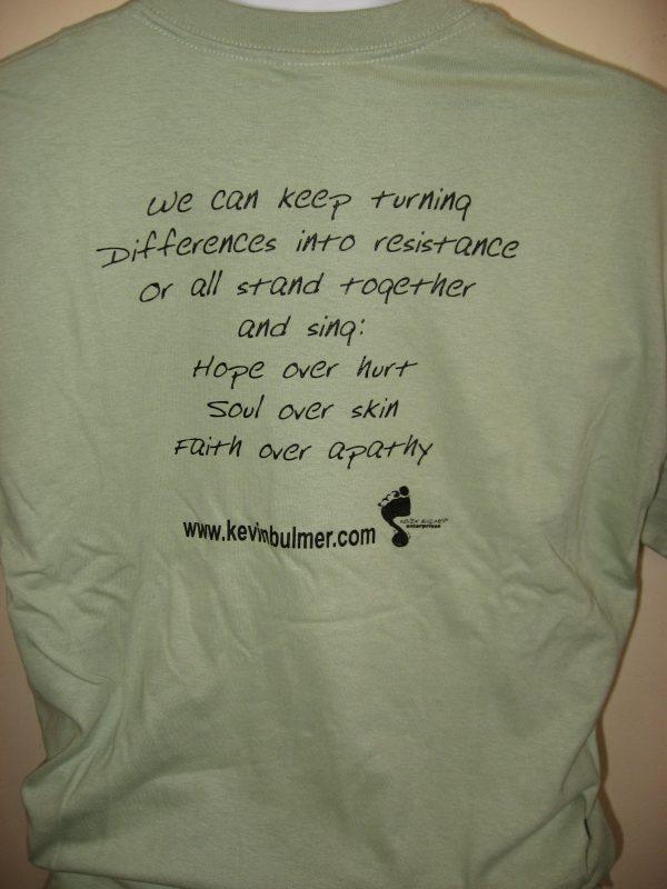 """Hope Over Hurt"" Lyric - Inspirational T-Shirt Back"
