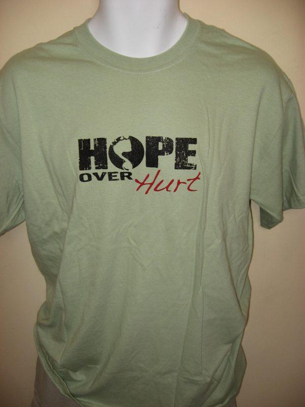 """Hope Over Hurt"" Lyric - Inspirational T-Shirt Front"