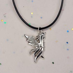 Phoenix charm necklace